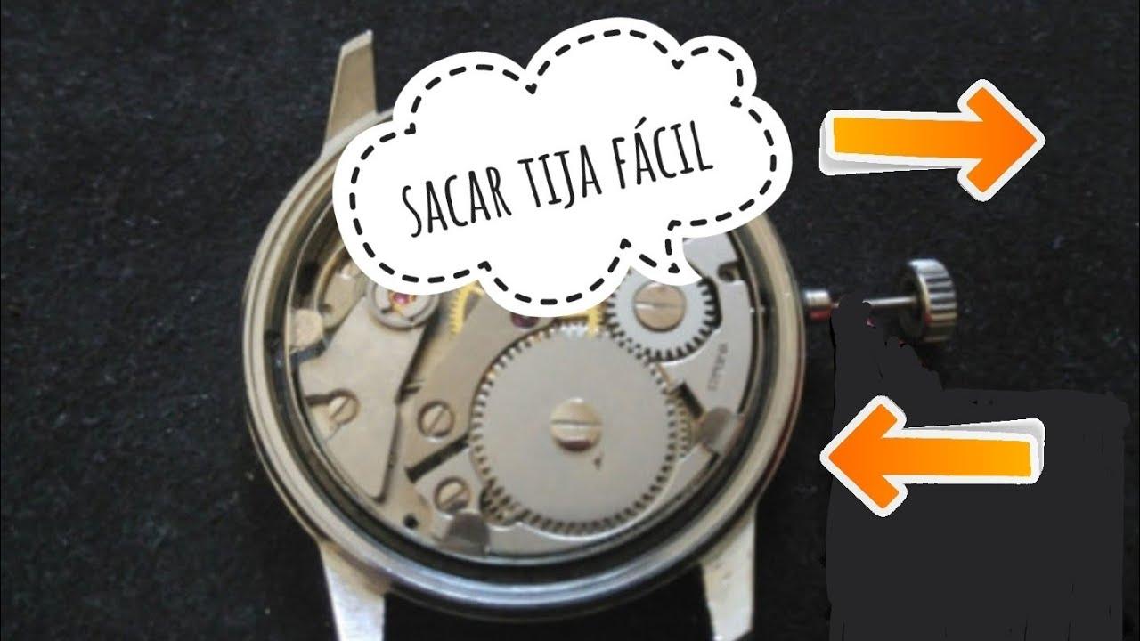 39286abaf Como SACAR LA TIJA corona de un reloj cuarzo y automático. 🙄 [FÁCIL ...
