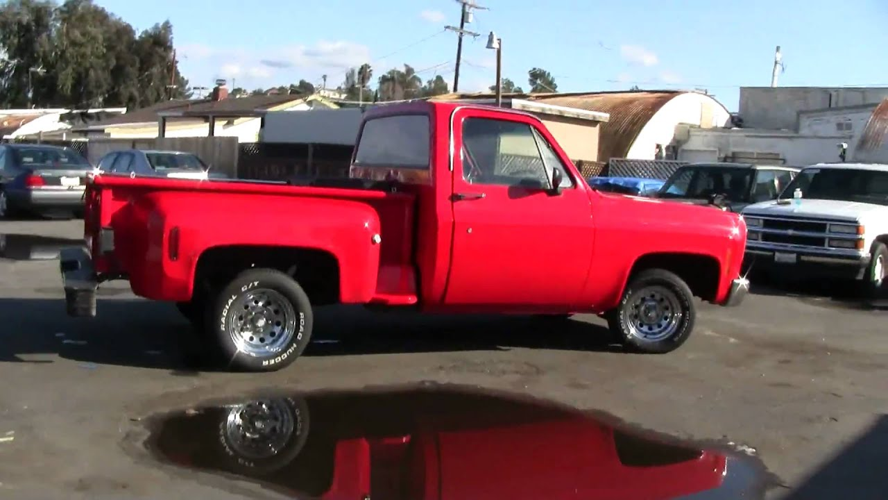 1977 chevrolet shortbed stepside pickup truck c10 1500 1 2 ton for sale youtube [ 1920 x 1080 Pixel ]