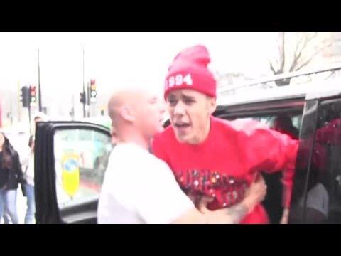 Justin Bieber s'énerve à Londres,