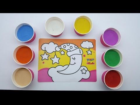 Đồ chơi trẻ em TÔ MÀU TRANH CÁT - VẦNG TRĂNG VÀ NHỮNG NGÔI SAO ! Color Sand Paint