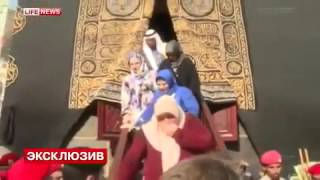 الرئيس الشيشاني ووالدته وقريباته يدخلون الكعبة