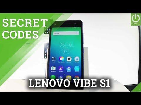 Codes LENOVO Vibe S1 Lite - HardReset info
