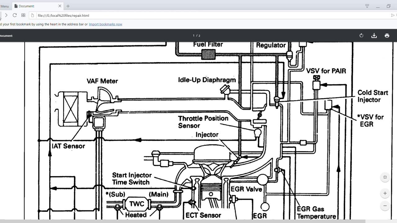 1990 To 1995 Toyota 4runner Oem Repair And Wiring Manuals