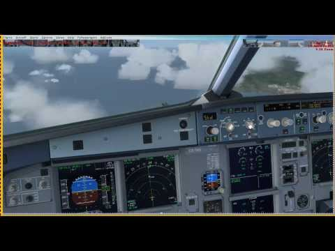 FSX - TAP Portugal A320 TP1860 LPPD Descent, Aproach, Landing, Taxi and Parking