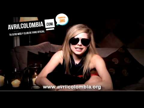 Avril lavigne Colombia Nuevo sitio web