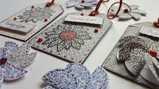 JUNK MAIL PAPER CRAFT |  PAPER FLOWERS | GIFT TAGS