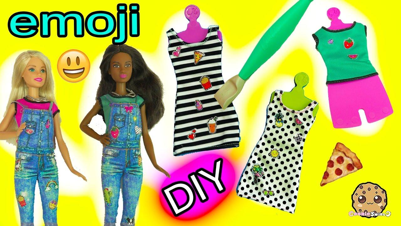 Create Your Own Barbie Doll Fashion D I Y Emoji Style Dolls Super Easy Craft Set Youtube
