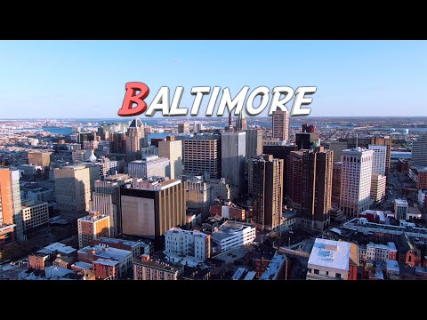 Aerial Baltimore, Maryland 🇺🇸 4K Drone Footage