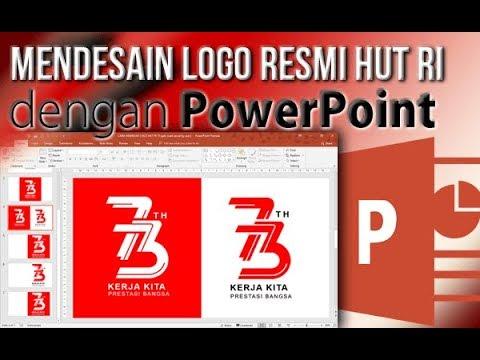 Cara Membuat Logo Resmi HUT RI dengan PowerPoint