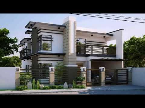 Two storey residential house floor plan philippines youtube for Two storey residential house floor plan