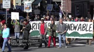 Pipeline Protest Oct 24 2015 Montpelier Vermont