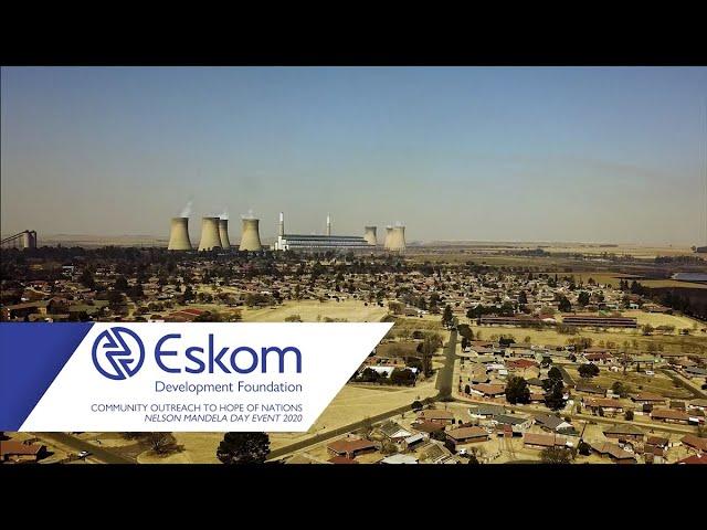 Eskom Hope of the Nation Mandela Day Activation 2020