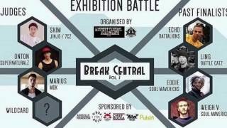Break Central Vol.3 Exhibition Battle 2017 Bgirl Eddie, Weigh V, Ling, Echo, Marius, Skim, Onton & ?