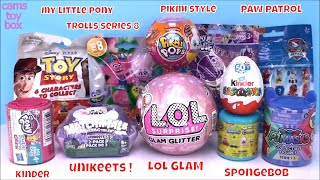 LOL Glam Gitter PIKMI POP Surprise TOYS OPENING MASH UP KINDER MLP Trolls 8 PJ MASKS