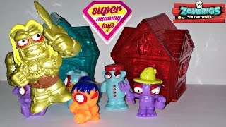 Zomlings Series 3 Houses Toy Unboxing with Limited Edition Gold Zomling - Zomlings serie 3 Casas