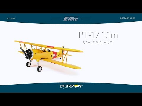 E-flite PT-17 1.1m BNF Basic and PNP