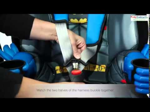Batman Car Chair Blue Wedding Sashes Kidsembrace Group 1 2 3 Seat Fitting Video Youtube