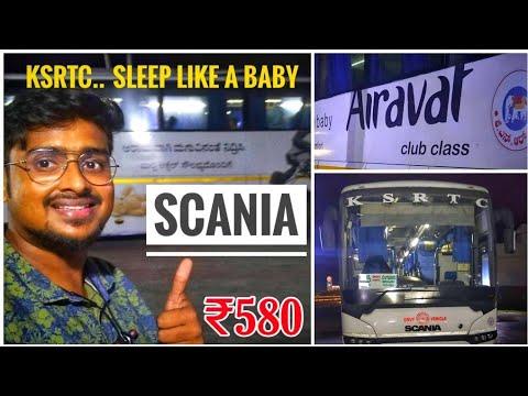 KSRTC - CLUB CLASS BUS  | Scania Government Bus | Bus Review | AIRAVAT Bus