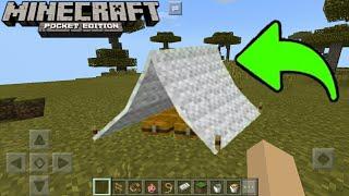 Como Hacer una Casa de Campaña Sin Mods en Minecraft PE 1.1.3.1 || Funciona ✔ MCPE