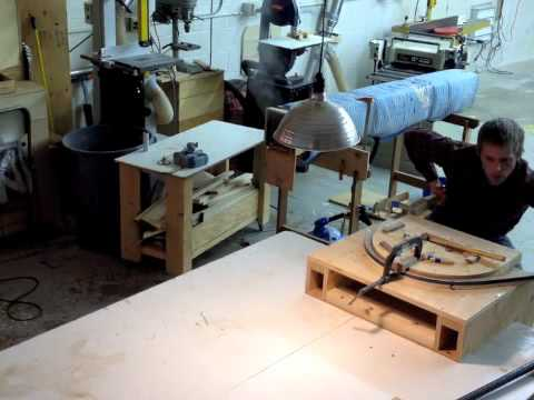 steam bending walnut