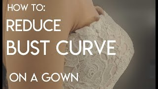 How to Reduce the Bust Curve, Apex, Bust Angle of a Gown, Small Bust Adjustment