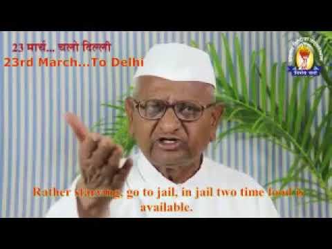 For farmers rights   Anna Hazare