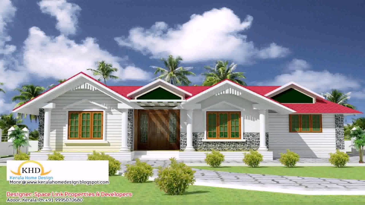 Front Elevation Of Kerala Style Houses : Front elevation of house kerala style youtube
