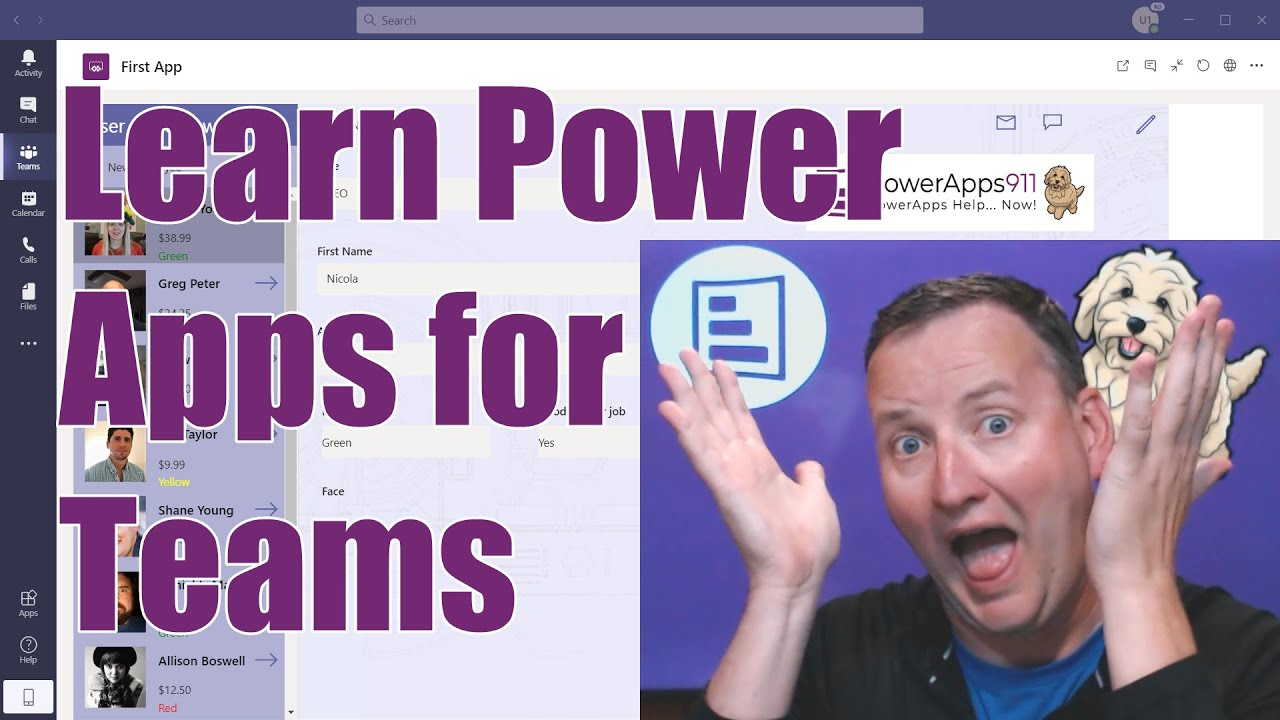 Build your first Custom App in Microsoft Teams with Power Apps and Dataverse