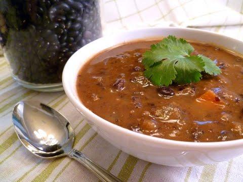 Slow Oven Black Bean Soup