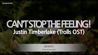 Justin Timberlake-CAN'T STOP THE FEELING! (Trolls OST) (Melody) [ZZang KARAOKE]