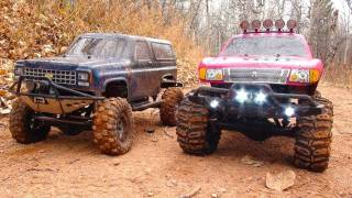 RC ADVENTURES - PiNKY & The BEAST - COLD CREEK TRAiLING - Scale 4x4 RC Trucks