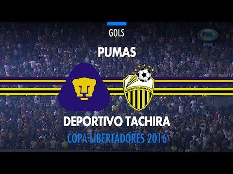 Gols - Pumas 2 x 0 Deportivo Táchira - Libertadores - 03/05/2016