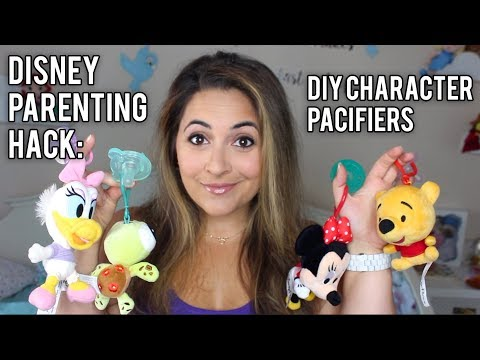 Disney Parenting Hack: DIY DISNEY CHARACTER PACIFIER