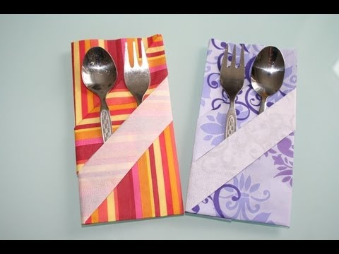 servietten falten bestecktasche besteckumschlag napkin folding pocket youtube. Black Bedroom Furniture Sets. Home Design Ideas