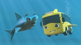 Underwater Buster The Bus | Buster In The Ocean | Little Baby Bum | Baby Cartoons - Moonbug Kids