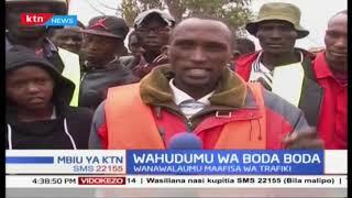 Polisi wanatumia sheria za Michuki kutukandamiza, waendesha  bodaboda Maralal walalama