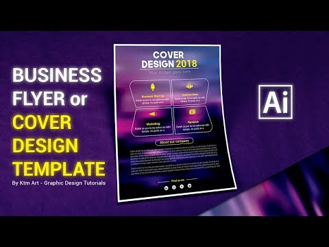 Illustrator Tutorial - Flyer or Cover Design Template thumbnail