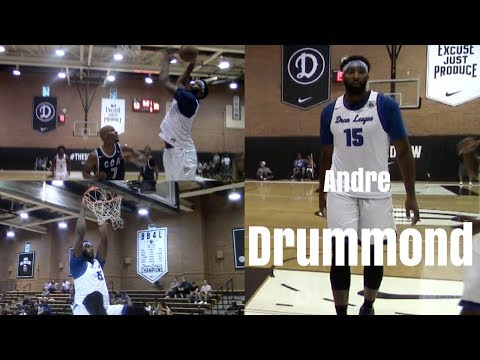 Big Guard Alert Detroit Pistons Andre Drummond Kills his Drew League Opener with BB4L!