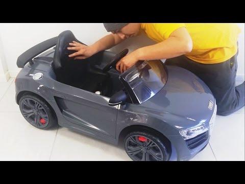 Audi R8 GT Spyder Remote Control Ride On Car Toy by Kid Trax  Unboxing diy