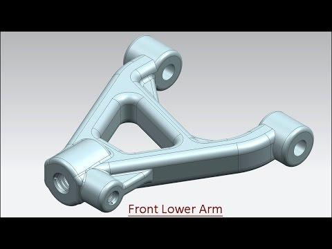 Front Lower Arm (Video Tutorial) Siemens NX
