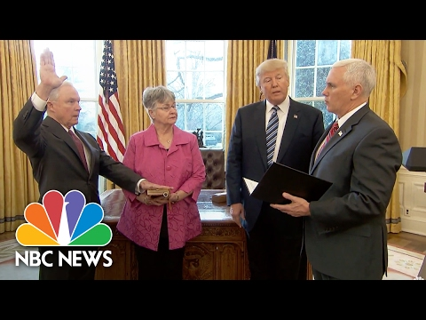 Jeff Sessions Sworn In As Attorney General | NBC News
