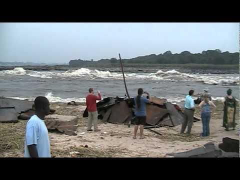 Chez Tintin. Congo river rapids.