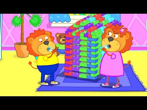 Lion Family Huge Lego City Cartoon for Kids