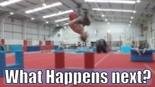 Gymnasts Try DEADLY BACKFLIP!... SCARIER than it looks