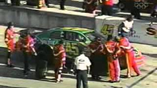 Adam Petty Slam's The WallBig Pile Up 1999 Hotwheels.com 300 Live.