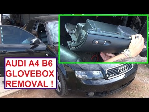 Audi A4 B6 Glovebox Removal And Replacement Audi A4 Glove