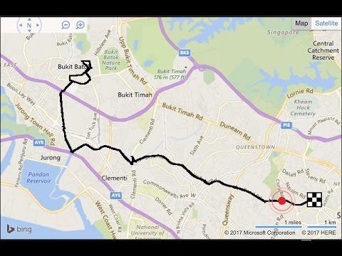 Velocifero MAD Singapore - 29.8KM Round Trip Orchard-Bukit Batok-Orchard