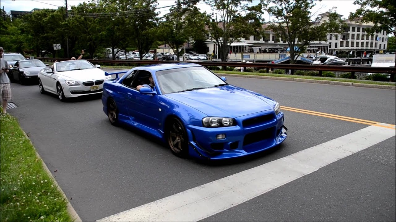 Gtr R34 Body Kit >> MODDED Nissan Skyline R34 LOUD REVS and HUGE Acceleration onto freeway - YouTube