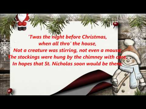 Twas the Night Before Christmas POEM words lyrics trending sing along song songs
