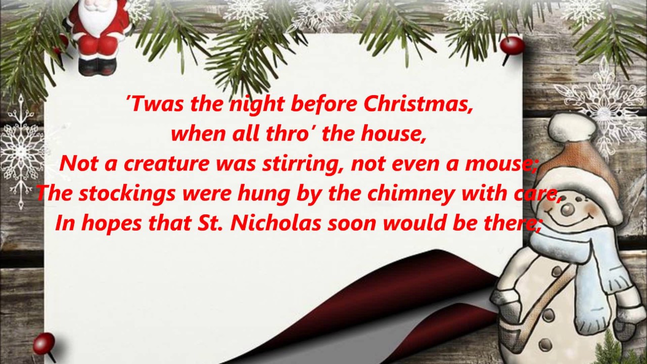 photograph regarding Twas the Night Before Christmas Printable Book identify Twas the Evening Prior to Xmas POEM words and phrases lyrics trending sing together music tunes